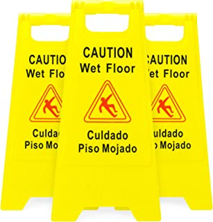 caution slippery ice signs