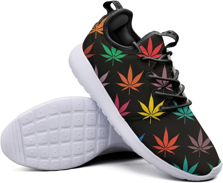 colors Marijuana Leaves Women's Climbing Tennis Sneakers Lightweight Mesh Gym shoes