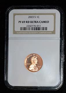 2003 S Lincoln Cent Gem Proof - Deep Cameo - Professionally Graded - Near Perfect - PF69 Red DCAM - NGC