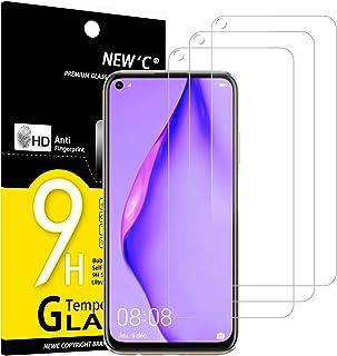 NEW'C 3-pack skärmskydd med Huawei P40 Lite 4G – Härdat glas HD klar 9H hårdhet bubbelfritt