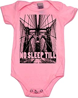 No Sleep Till Brooklyn Cool Baby Onesie, Bodysuit, Tops | Cool Baby Gift