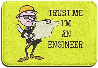 Soft Non-Slip Prezent Dla Inżyniera - Kubek Trust Me I'm an Engineer Bath Mat Coral Rug Door Mat Entrance Rug Floor Mats f...