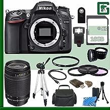 Nikon D7100 DSLR Camera (Body Only) + Nikon AF Zoom-NIKKOR 70-300mm f/4-5.6G Lens + 16GB Green's Camera Bundle 2