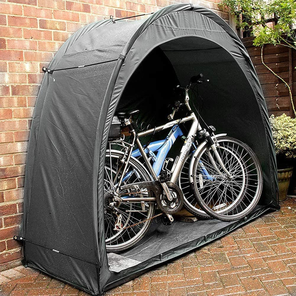 190T Carpas multifuncionales para Bicicletas Carpas emergentes Impermeables para Exteriores Dise/ño de Ventana para 2 Bicicletas JTYX Carpa para Bicicletas Cobertizo para Almacenamiento de Bicicletas