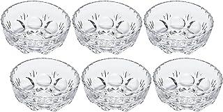 アデリア ガラス 豆鉢 クリア 最大12×高4.5cm ルック 小鉢  6個セット 日本製 156