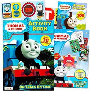 Thomas the Train Coloring and Activity Book Set with Over 160 Stickers (2 Books, 12 Sticker Sheets)