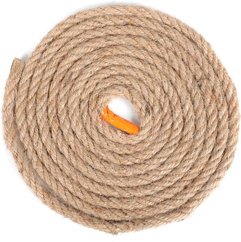ANMINY Japan's largest assortment 1 4 Inch 35% OFF x 10 Feet Twisted Strand F Rope Natural Manila