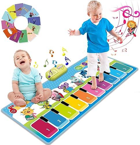 Joyjoz Piano Tapis Musical Plus de 90 Sonorités, Tapis de Danse pour Enfants, Jouets Musicaux pour Bébés, Filles & Ga...