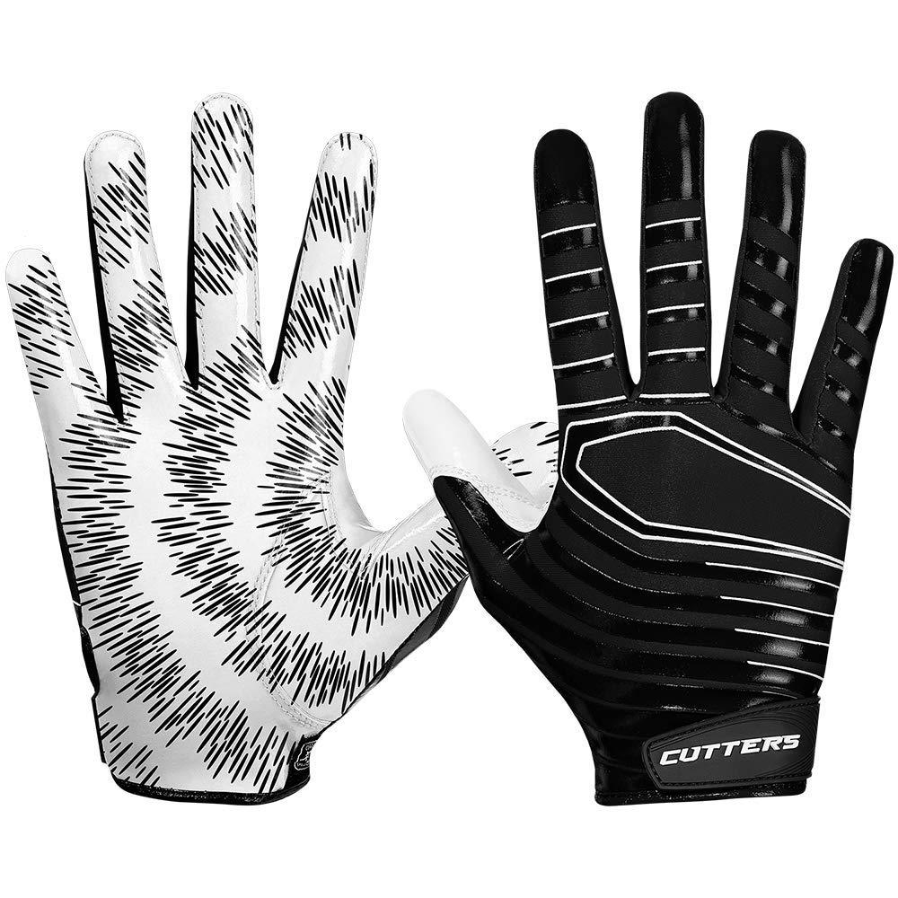 Best Grip Football Gloves Youth /& Adult Sizes 1 Pair Lightweight /& Flexible Cutters Football Glove