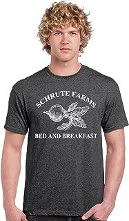 iApparel Schrute Farms The Office Dark Heather Grey Men Shirt