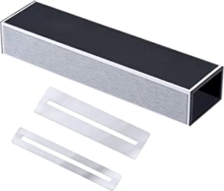 Canomo Guitar Fret Sanding Leveler Beam Leveling Bar Bass Luthier Tool with Stainless Steel Fretboard Guard Protector