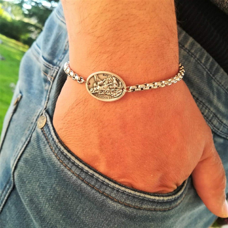 Patron Saints Catholic Medals Chain shop - St Bracelets Sale Special Price Bened Michael