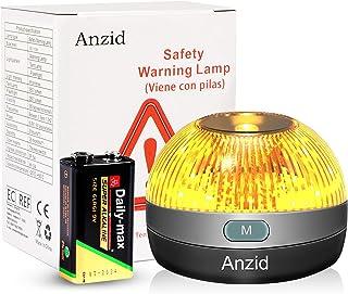Anzid Luz de Emergencia para Coche Motos Luz Emergencia Luz Baliza Recargable Emergencia Coche v16 DGT Safety Light LED Co...
