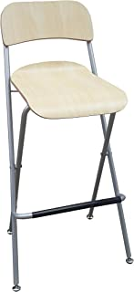 FixtureDisplays Folding High Chair Bar Stool Folding Wood Metal Chair Two-Pack 11036-NF