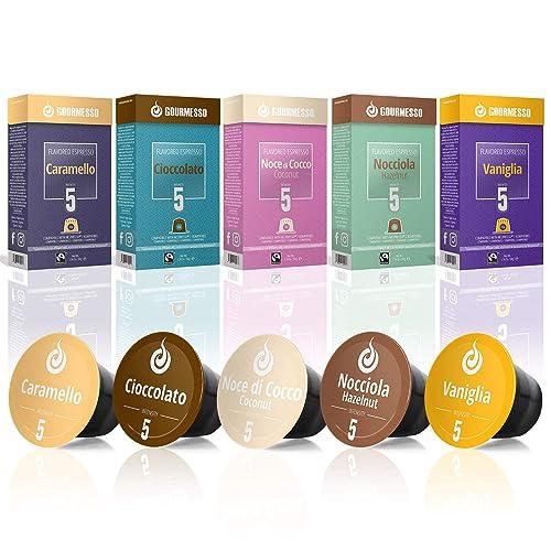 5fbc8b55e Gourmesso Flavor Bundle - 50 Coffee Capsules Compatible with Nespresso  Machines - 100% Fair Trade