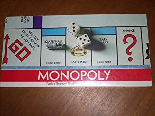 1975 Copyright MONOPOLY Board Game Model No. 9 by Parker Brothers