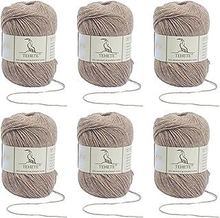 TEHETE Ovillo de lana, Hilados lana merino,6 Bolas x 50g, Hilo para manta,suéter calcetín, bufanda, diy, ganchillo y tejid...