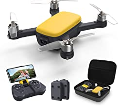 Holy Stone HS166Y Drone with Camera, GPS, 2K HD Camera, Outdoor, Brushless Motor, Wide Angle, Storage Case, Small 2 Batteries, 32 Minutes, Flight Time, Selfie Drone, Sport Mode, Follow Me Mode, Live Relay, Altitude Maintenance, Mode 1/2 Free Conversion, D