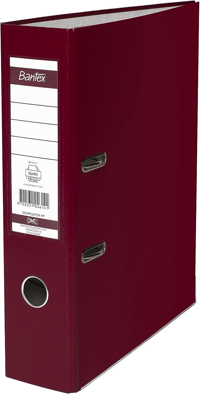 BANTEX 100551803 Lot de 20 classeurs /à levier Bordeaux A4 5 cm