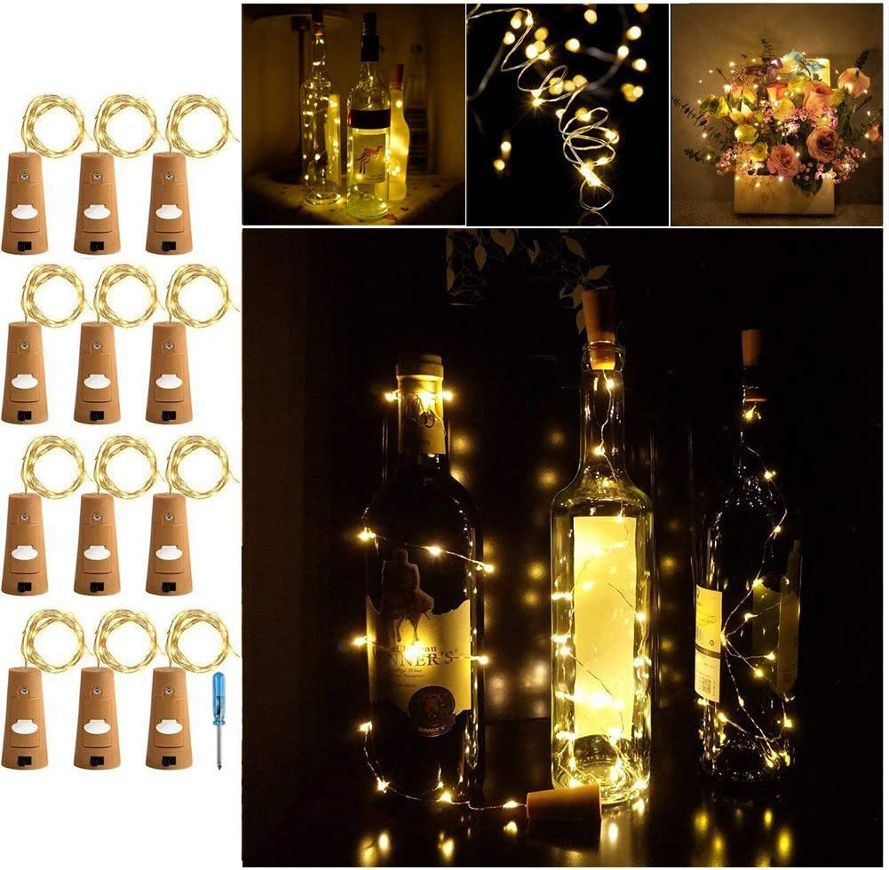 Adecorty Wine Free shipping on posting reviews Bottle Super beauty product restock quality top! Lights with - Wire Silver Cork