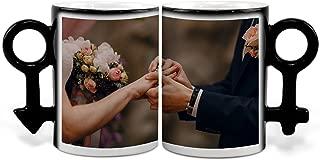Lolapix - Tazas Mágicas Pareja Personalizada con tu Foto, diseño o Texto, Original y Exclusivo. Regalo para Enamorados. Tazas con Amor.