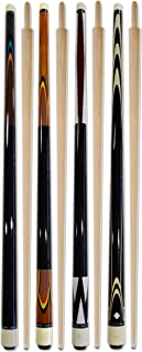 Billiard Depot Set of 4 Carom Cues 56