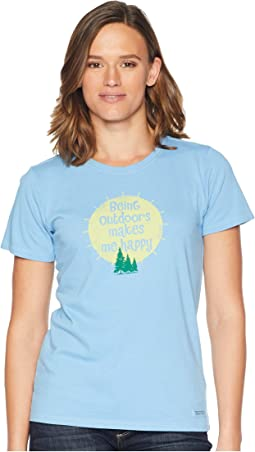 Outdoors Makes Me Happy Crusher T-Shirt