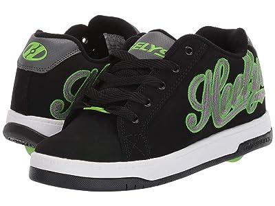 Heelys Split (Little Kid/Big Kid/Adult) (Black/Charcoal/Bright Green) Boys Shoes