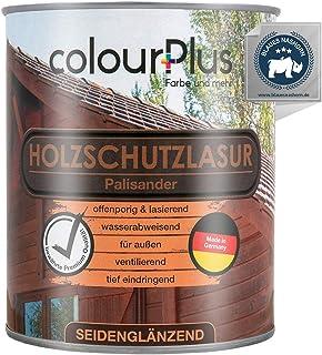 colourPlus Holzschutzlasur 750ml, Palisander seidenglänzende Holzlasur Außen- Holz Grundierung - Holz Lasur - Holzlasur Aussen - Made in Germany