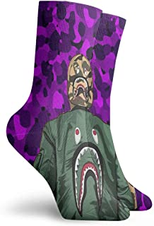 Mens low cut athletic Ankle sock big whale shark teeth Comfort Short Sock