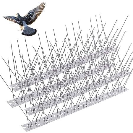 Home Garden 10PCS 30cm Stainless Steel Bird Pigeon Spikes Deterrent Kit Yard