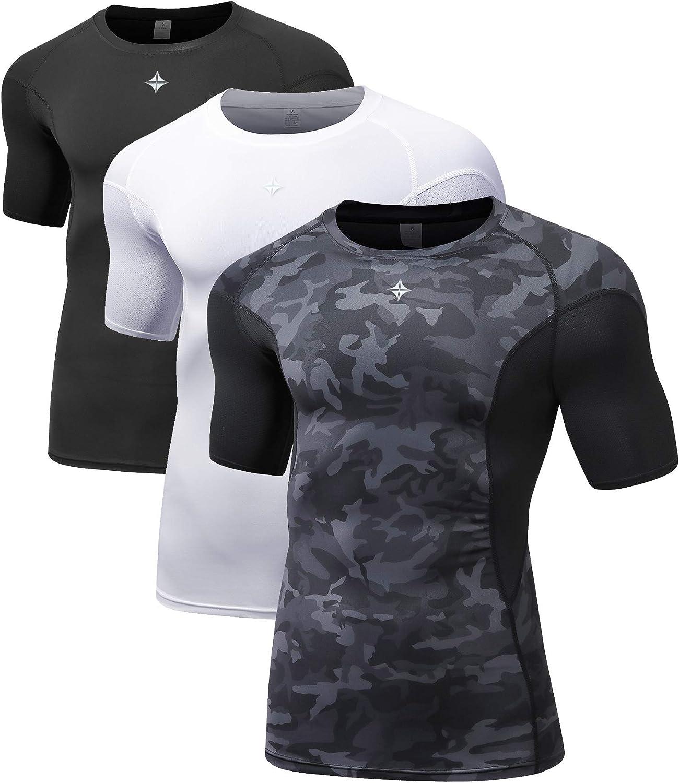Milin Naco Men's Denver Mall Tulsa Mall Short Sleeve T-Shirt Compression Base Cool Dry