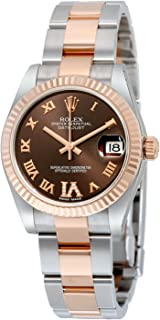 ladies rolex oyster perpetual datejust rose gold