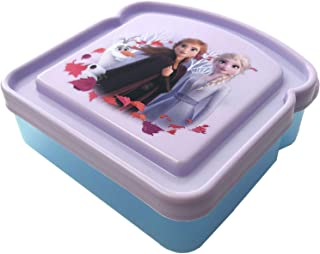 Sandwich Box Compact Food Storage Container   Great for Kid Snacks   BPA Free, Reusable (Frozen)