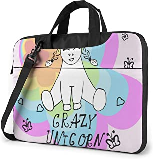 "Little Unicorn Holds A Heart. (1) Laptop Bag Protective Case Computer Messenger Briefcase Women Men 13"""