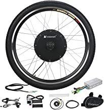 "Voilamart Electric Bicycle Wheel Kit 26"" Front Wheel 48V 1000W E-Bike Conversion Kit, Cycling Hub Motor with Intelligent C..."
