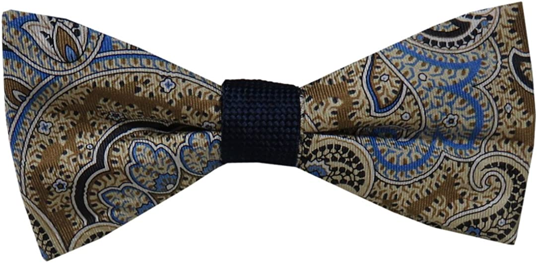 Croft&Barrow Men's Bow Tie, Nolan Paisley Solid Rev Pt, Multi/Blue