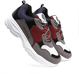 Bacca Bucci® Men's Retro Blocked Fashion Sneaker/Sports for Walking, Party,Shopping,Running and Fun-Multi Color