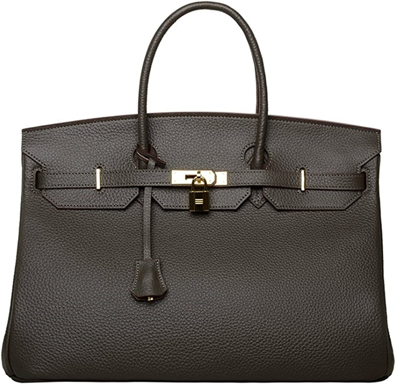 40cm Oversized Padlock Business Office Top Handle Handbags Dark Grey