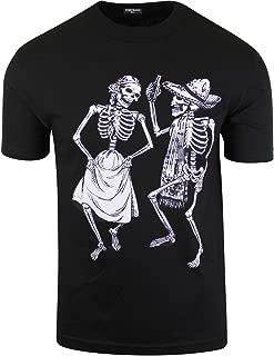 Mens Sugar Skull Shirts Rockabilly Day of The Dead Tees Cinco de Mayo