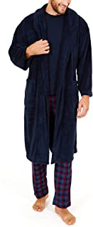 Nautica Men's Long Sleeve Cozy Soft Plush Shawl Collar Robe
