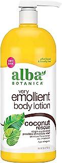 Alba Botanica Very Emollient Coconut Rescue Body Lotion, 32 oz.