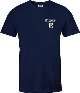 NCAA Rhode Island Rams Adult NCAA Sketchbook Comfort Color Short sleeve T-Shirt, Large,TrueNavy