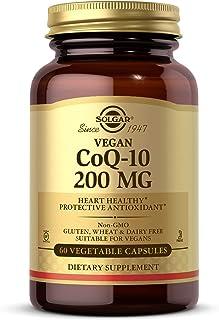 Solgar Vegetarian CoQ-10 200 mg, 60 Vegetable Capsules - Heart Healthy, Protective Antioxidant - Coenzyme Q10 (CoQ-10) Sup...