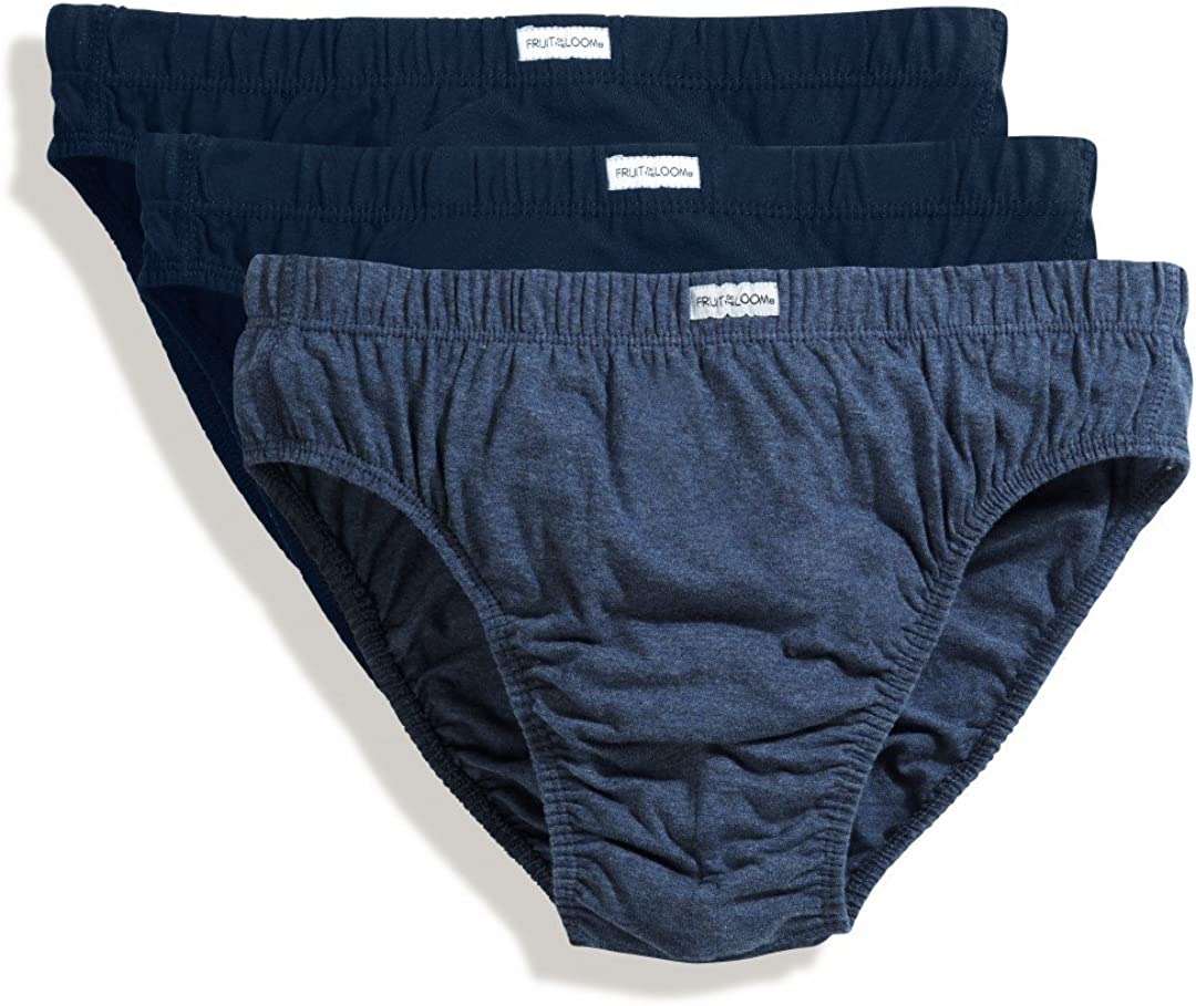 Mens Fruit of the Loom Classic Sport Briefs Pants Underwear 2 Pack White XXL T11