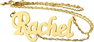 Personalized Name Necklace 14k Gold Dainty Pendant Charm