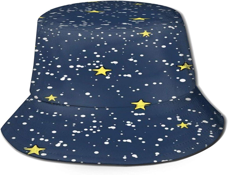 Max 56% Superlatite OFF Snow Stars Bucket Hat Unisex Fisherman Summer Packable H Sun