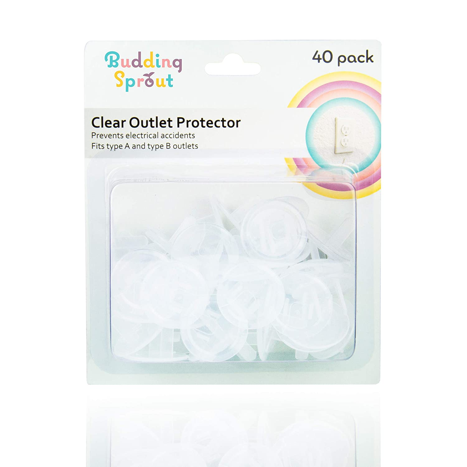 Clear Outlet Protectors (40-Pack) Child Proof Electrical Protector Safety Caps
