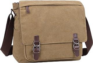 Berchirly Vintage Canvas Laptop Messenger Satchel Bag Bookbag Bag Schoolbag for Men and Women