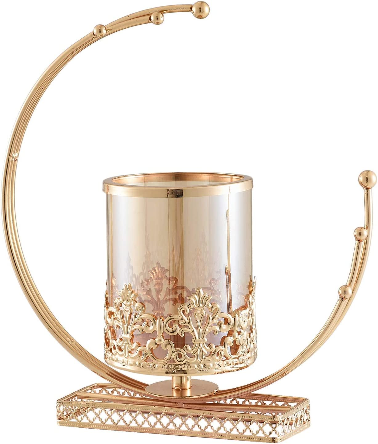 JXHYKJ Heart Moon Iron Stand G Stylish Simple OFFicial shop Holder Our shop most popular Candlestick